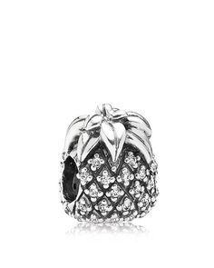 Pandora Charm - Sterling Silver & Cubic Zirconia Sparkling Pineapple, Moments Collection