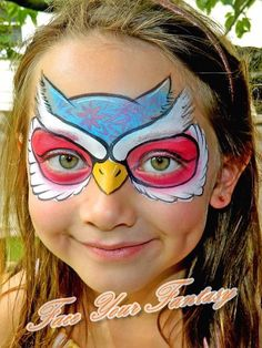 Eule - Hobbies paining body for kids and adult Owl Face Paint, Mermaid Face Paint, Face Paint Makeup, Face Painting Tips, Face Painting Designs, Body Painting, Owl Makeup, Kids Makeup, Animal Face Paintings