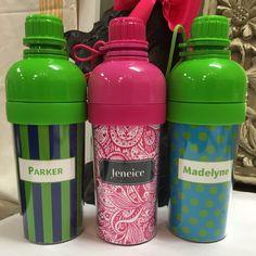 Sports bottles by Doodlz Designz.