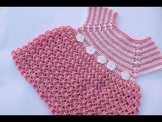 Vestido niña a crochet muy fácil y rápido MAJOVEL CROCHET - YouTube