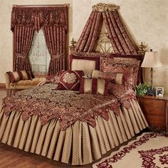Add a regal touch to your bedroom by adding a bed crown, or wall tester. An ornate Bed Crown can create a magnificent focal point above your bed. Bedroom Sets, Dream Bedroom, Master Bedroom, Bedroom Decor, Budget Bedroom, Bedroom Storage, Master Suite, Bedroom Furniture, Furniture Ideas