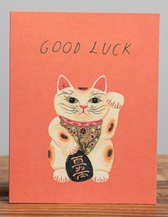 Good Lucky Kitty | Red Cap Cards