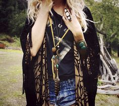 Corina from @GYPSY EYED wearing Roots & Feathers