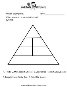 Printables Health Triangle Worksheet food pyramid for health lesson this will be good to show students how much of each they should eating pyramid