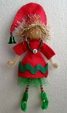 Craft Your Own Elf from a Bead, Pipe Cleaners and Felt-Tutorial