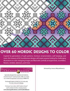 Creative Haven NORDIC DESIGNS Collection Coloring Book ABOUT THIS BOOK Welcome to Dover Publications