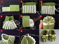 вязание для детей, пинетки/ knit baby booties