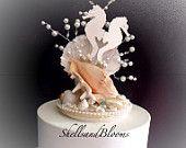 Seahorses for waterfall Cake Seashell Cake, Seashell Wedding, Wedding Cake Toppers, Wedding Cakes, Waterfall Cake, Seahorses, Destin Beach, Something Blue, One Light