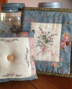Hand Embroidered Needle Case and Pinchusion