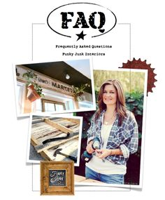 Gossip revealed! FREQUENTLY ASKED QUESTIONS, from pallets to pretty junk, via Funky Junk Interiors