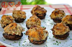 Sausage Stuffed Mushrooms Shared on https://www.facebook.com/LowCarbZen
