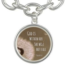 Bible Verse: God is within her, she will not fall #bibleverse #jewelry