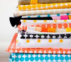 colorful stack of fabric