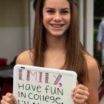 High School Graduation Party-White Board Farewell, take pics of guests holding their message to the grad