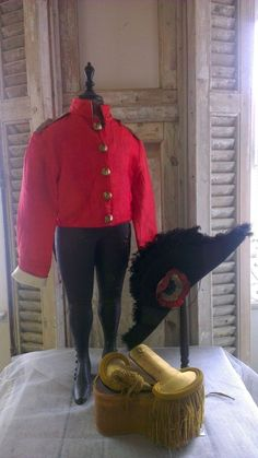 Gorgeous vintage small child's tailcoat,tuxedo,tails jacket, red silk with gold