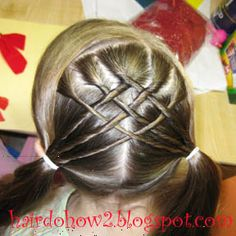 Hairdo How-to: pigtails so cute for the girls
