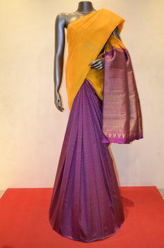 Indian Silk Sarees, Pure Silk Sarees, Traditional Sarees, Traditional Outfits, Saree Dress, Sari Blouse, Designer Silk Sarees, Kanchipuram Saree, Lehenga Designs