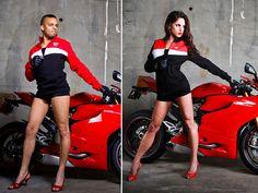 Motorcycle men pose as biker babes 9 Photo Shoot: Men Posing Like Motorcycle Models