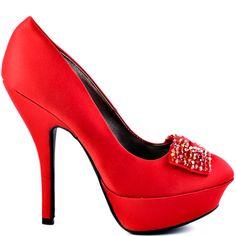 Heels I Love #heels #summer #high_heels #color #love #shoes Malaika - Red  JustFab