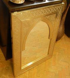 Beautiful Handmade Moroccan Mirror Wood and Brass 60 cm/40 cm | Etsy