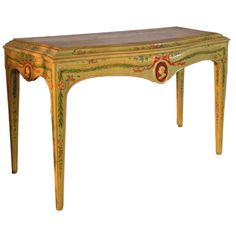 Venetian Neoclassical Painted Console Table | From a unique collection of antique and modern console tables at https://www.1stdibs.com/furniture/tables/console-tables/