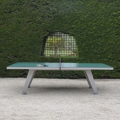 An Outdoor Ping Pong Table For Design Lovers | Ping Pong Table, Tables And  Game Tables