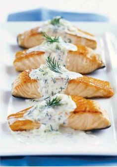 Great Recipes, Dinner Ideas and Quick & Easy Meals from Kraft Foods - My Food and Family Salmon Recipes, Fish Recipes, Seafood Recipes, Dinner Recipes, Cooking Recipes, Healthy Recipes, Dinner Ideas, Cheese Recipes, Yummy Recipes