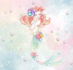 Trendy Art Drawings Tattoo Little Mermaids Disney Princess Ariel, Princess Art, Disney Fan Art, Disney Love, Fairytale Art, Ariel The Little Mermaid, Mermaid Art, Disney Wallpaper, Princesas Disney