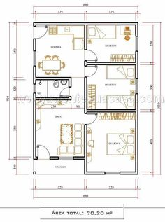 Enjoy Modern Home Decor Throughout Your Home 2 Bedroom House Plans, House Floor Plans, Bungalow House Design, Modern House Design, Tiny House Plans Free, Small Modern Home, Indian Homes, Interior Sketch, Architecture Plan
