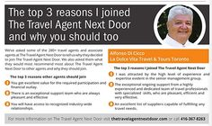 Are you ready for MORE™?  Find out why this agent joined The Travel Agent Next Door #TTAND #TheTravelAgentNextDoor
