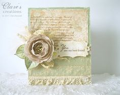 WMSC49.... paper rose and lace | Clare's creations