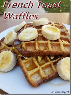 French Toast Waffles! Healthy, whole grain, high protein breakfast.