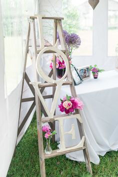 DIY decor: http://www.stylemepretty.com/canada-weddings/ontario/ottawa/2015/07/24/colorful-ottawa-herb-garden-wedding/ | Photography: Laura Kelly - http://laurakellyphotography.ca/
