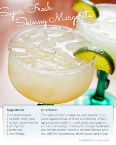 "I'm feeling like a want a Skinny Margarita at the end of this busy day. #recipe  Does ""skinny"" mean I can have two?"