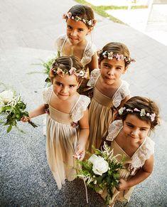 Querida Valentina Rings For Girls, Wedding With Kids, Bridesmaid Dresses, Wedding Dresses, Flower Girl Dresses, Flower Girls, Cool Kids, Casual Dresses, Wedding Photos