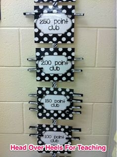cool idea for tracking accelerated reader points!