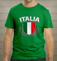 Italia Football Club World Cup Brasil 2014 Green T-Shirt size S-2XL New - T-Shirts, Tank Tops