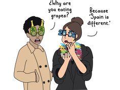 12 maneras de tomar las 12 uvas - Para imperfectas