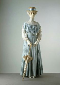 Ca. 1905 Printed Cotton Summer Day Dress