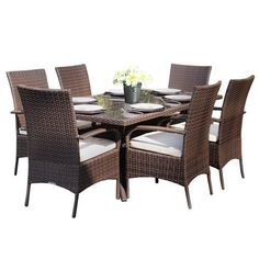 Kingston 6 Seat Brown Rectangular Outdoor All Weather Rattan Garden Dining Set by Wovenhill Rattan Garden Furniture, http://www.amazon.co.uk/dp/B0012X6Q8O/ref=cm_sw_r_pi_dp_A-Mstb0KG4DQF