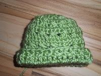 Cross Crochet Stitch Preemie Hat free    pattern