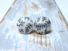 Check out this item in my Etsy shop https://www.etsy.com/listing/226948581/black-and-white-stud-earrings-fabric