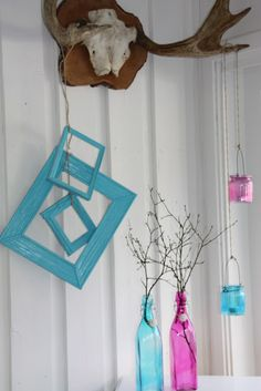 Decoration made of painted frames