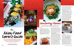 Food Magazine Layout, Magazine Layout Design, Layout Inspiration, Editorial Design, Asian Recipes, Layouts, Menu, Menu Board Design, Design Inspiration