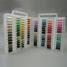 @Overstock.com - Sulky Slimline Embroiderer's Dream Assortment - Make sure you have a thread to match each of your precious fabrics with this assorted sewing kit. This set comes with 104 Sulky spools in beautiful colors. The collection comes with a convenient carrying case so you can take it with you.  http://www.overstock.com/Crafts-Sewing/Sulky-Slimline-Embroiderers-Dream-Assortment/3127706/product.html?CID=214117 $178.75