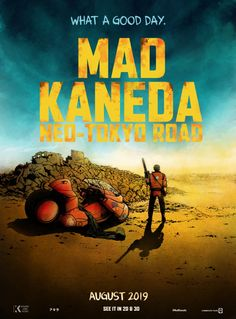 Mad Kaneda Neo-Tokyo Road Art Print  Mad Max Akira Parody Poster  cyberpunk, anime
