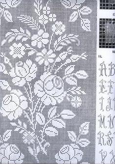 Crochet Curtains, Crochet Doilies, Crochet Lace, Crewel Embroidery, Embroidery Patterns, Crochet Patterns, Crochet Carpet, Filet Crochet Charts, Fillet Crochet