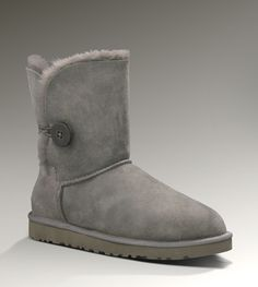 Women UGG Bailey Button Boots Grey, Cheap UGGs Hot Sale