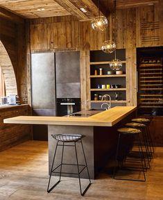 Cucina di montagna, tra legno ed acciaio | Pinterest | Cabin ...