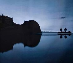 Its an island, and a violin! A real life optic illusion